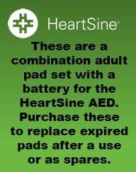 HeartSine AED Adult Pad-Pak